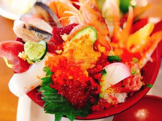 北の海の海鮮丼の写真・画像素材[4551851]