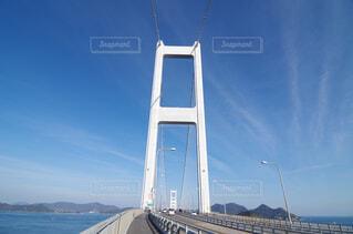 しまなみ海道 来島海峡大橋上の歩行者、自転車専用道にての写真・画像素材[4364290]