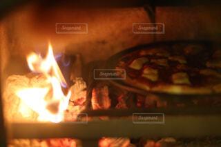 火のオーブンのぼやけた写真の写真・画像素材[4501071]