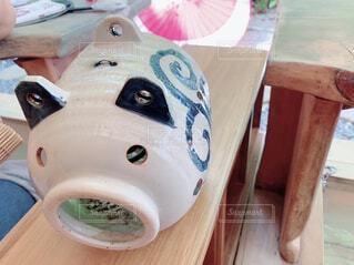 夏の風物詩。豚の蚊取り線香の写真・画像素材[4585184]