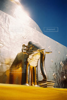 金ピカの寺の象の像の写真・画像素材[4358784]