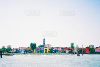 水の都のカラフルな建物の写真・画像素材[4358787]