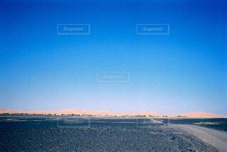 砂漠の境界線の写真・画像素材[4358791]