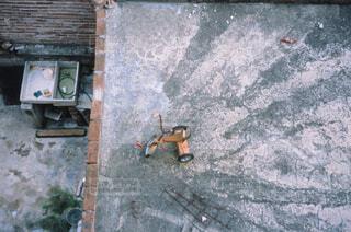 俯瞰の三輪車の写真・画像素材[4362369]
