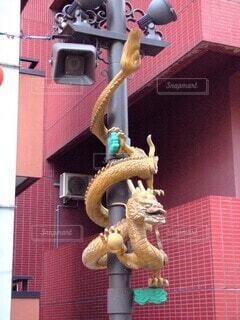横浜中華街 龍のオブジェの写真・画像素材[4465568]