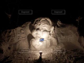 戸隠の雪像の写真・画像素材[4362491]