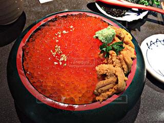 金沢で食べたうにいくら丼です。の写真・画像素材[4385328]