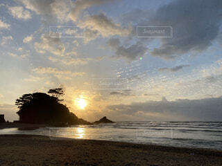 沖縄の夕日の写真・画像素材[4362773]