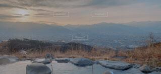 温泉からの眺めの写真・画像素材[4393421]