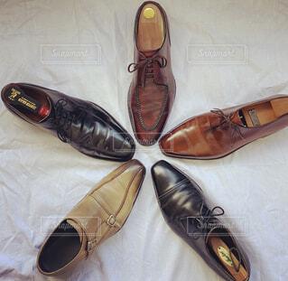 革靴並べてみたの写真・画像素材[4369256]