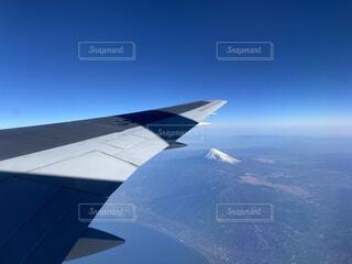 飛行機から見る富士山の写真・画像素材[4373845]