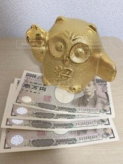 金運フクロウと4万円の写真・画像素材[4649733]