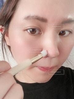 歯を磨く人のクローズアップの写真・画像素材[4759971]