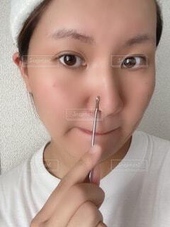 小鼻のケアをの写真・画像素材[4878442]