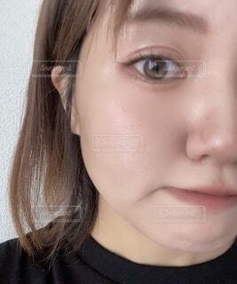半顔メイクの写真・画像素材[4939180]