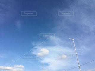 飛行機雲の写真・画像素材[1194514]