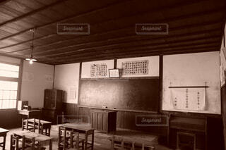昭和の懐しい教室の写真・画像素材[4391482]