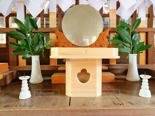 神社の鏡の写真・画像素材[4404752]
