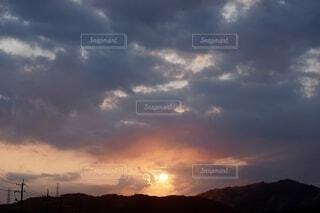 朝焼けの空の写真・画像素材[4636822]