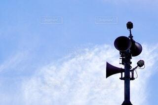 防災放送用スピーカーの写真・画像素材[4749440]