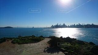 アルカトラズ島からのサンフランシスコの景色の写真・画像素材[4389283]