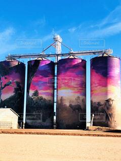 オーストラリアの貯蔵庫サイロの写真・画像素材[4397826]