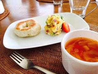 朝食,パン,ふわふわ,ベーグル,朝ごはん,ブレックファースト,美味しい,手作り,焼きたて,モチモチ