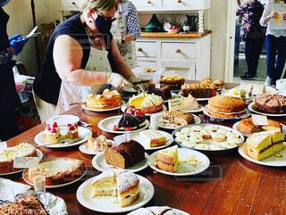 イギリスの沢山のケーキの写真・画像素材[4404923]