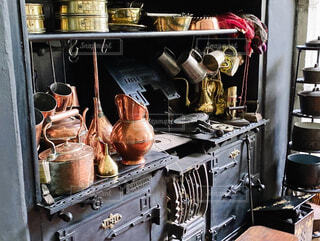 イギリスカントリーハウスの台所の写真・画像素材[4404924]