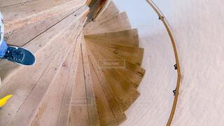 綺麗な螺旋階段の写真・画像素材[4572962]