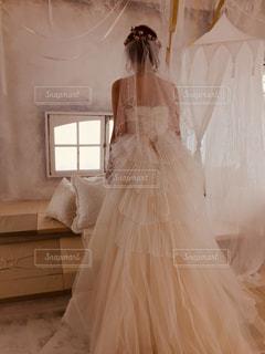 ウェディングドレスの新婦の写真・画像素材[1015083]
