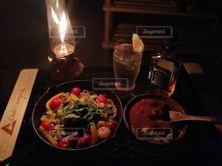 オシャレな夜ご飯の写真・画像素材[4408362]