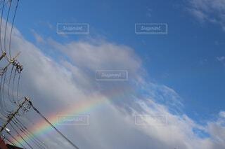 雨上がりの虹の写真・画像素材[4408638]