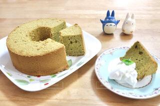 手作り抹茶のシフォンケーキの写真・画像素材[4409131]