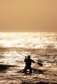 朝日輝く海への写真・画像素材[4408559]