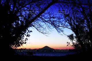 silhouette  of  Mt.Fujiの写真・画像素材[4409432]