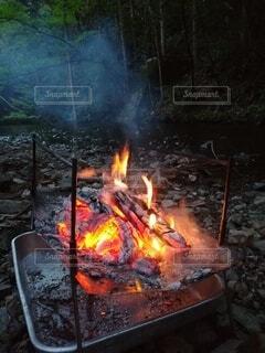 火のクローズアップの写真・画像素材[4413035]