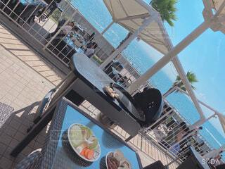 海見ながらBBQの写真・画像素材[4425296]