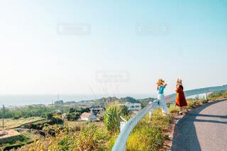 海が観える丘の写真・画像素材[4428939]
