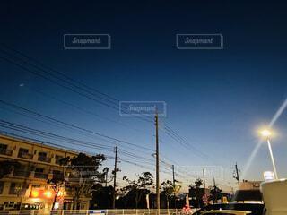 平凡な夕暮れの写真・画像素材[4430004]