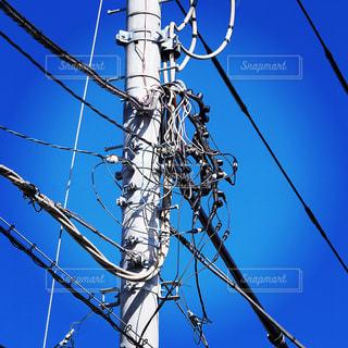 電線の写真・画像素材[1592314]