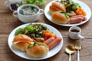 おしゃれなワンプレート朝食の写真・画像素材[4438451]