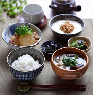 和食の朝食の写真・画像素材[4440246]