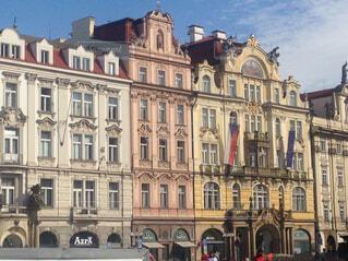 チェコの古い町並みの写真・画像素材[4444846]