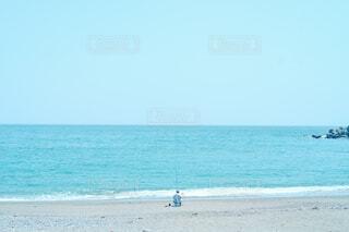 海の隣の砂浜の写真・画像素材[4454742]