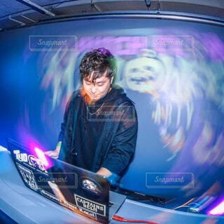 男性DJの写真・画像素材[4449080]