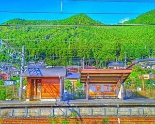 ローカル線の駅の写真・画像素材[4951134]