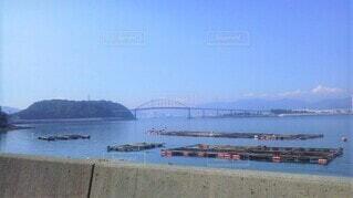 笠戸島本浦から見た笠戸大橋の写真・画像素材[4533511]