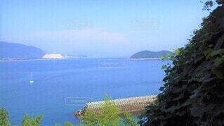 笠戸島の青い海の写真・画像素材[4533510]