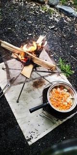 キャンプ飯の写真・画像素材[4455377]